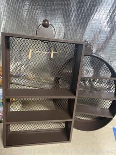Pair of Metal Wall Shelves