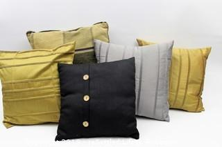 Gold and Grey Throw Pillows