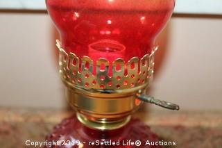 Hurricane Candles and Electric Oil Lamp