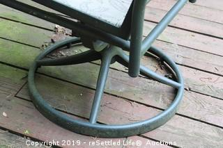 Rectangular Patio Table and Four Chairs