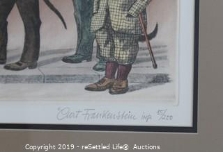 1970's Limited Edition Curt Frankenstein Colored Etching Print