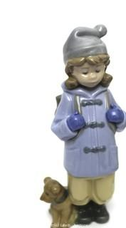 Lladro Talk to Me and #1038 Nao Traveling Girl