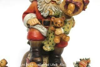 Anri Sculpted Wood Figurine Limited Edition Mini Figurines and Santa