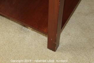 Wood Veneer Side Table