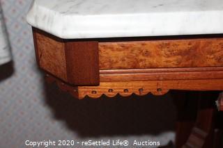 Vintage Marble Top Table