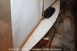 Model Sail Boat with Stand