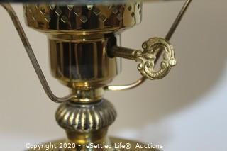 Table Lamp and Belleek Vase