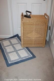 Hamper, Carpet and Vintage Iron
