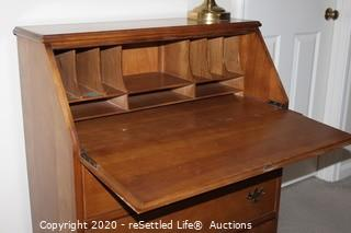 Vintage Secretary with Lamp