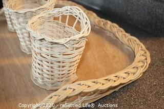 Trinidadian Tray and Utensil Holders