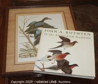 John A. Ruthven Signed and Framed Print and Coffee Table Book