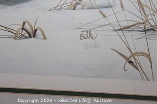 """Signed, Limited Edition Don Balke """"Bobwhites"""""""
