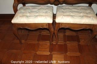 Ethan Allen Sofa Table with Two Stools