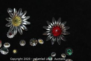 Swarovski Crystal Flower Cake Toppers