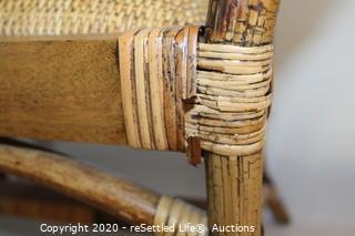 Wicker/Wood Stool
