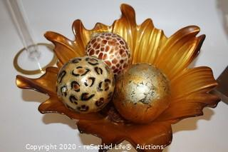 Murano Glass Flowers, Decorative Bowl and Spheres