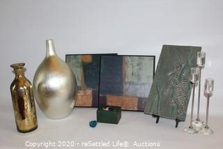 Wall Art, Candle Sticks and Vases