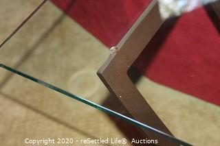 Modern Metal and Glass Table