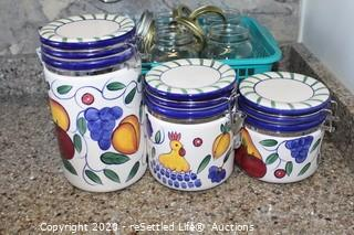 Canisters, Bowl, Canning Jar, Mugs and More