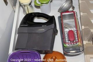 Hamilton Beach Hand Mixer, Graters, Slicers, Measuring Cups & More