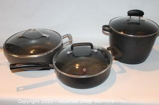 Pots, Pans and Cutting Board
