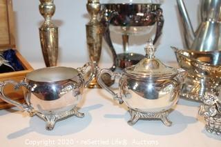 Variety of Silver Plated Serving Pieces