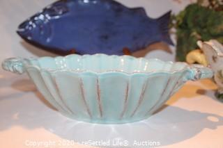 Crystal Vase, Decorative Bowls and Platters