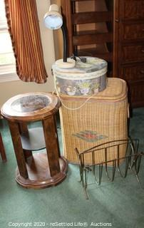Side Table, Hamper and More