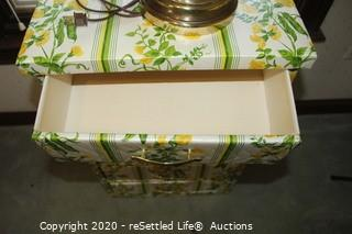 Storage Container with Brass Lamp