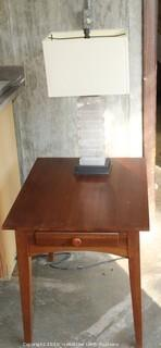 Ethan Allen End Table and Lamp