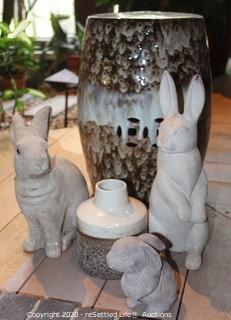 Stool and Rabbits