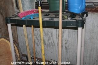 Tool Organizer, Wood Slices, Metal Bucket, Camp Chair and More